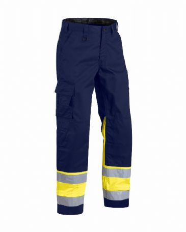 Blaklader 1564 High Visibility Trouser (Navy Blue/Yellow)